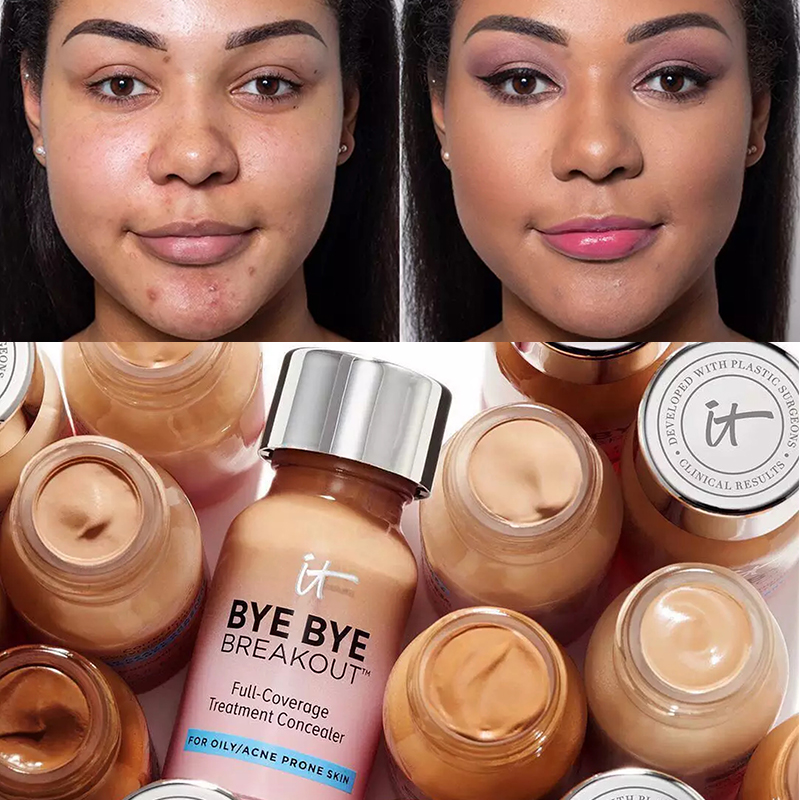 Makeup Cream It Cosmetics Full-Coverage Matte Base Treatment Concealer for Oily/Acne Prone Skin Bye Bye Breakout it's skin image