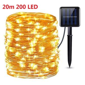 LED Solar String Lights Waterproof Fairy Lamp Outdoors Battery Multi Color String Copper Wire Lamp Lighting for Christmas Decor