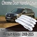 Стайлинг для Renault Koleos Samsung QM5 I MK1 2008 ~ 2015, наклейки, украшение, хромированная крышка ручки двери, краска, ремонт, автомобильные аксессуары