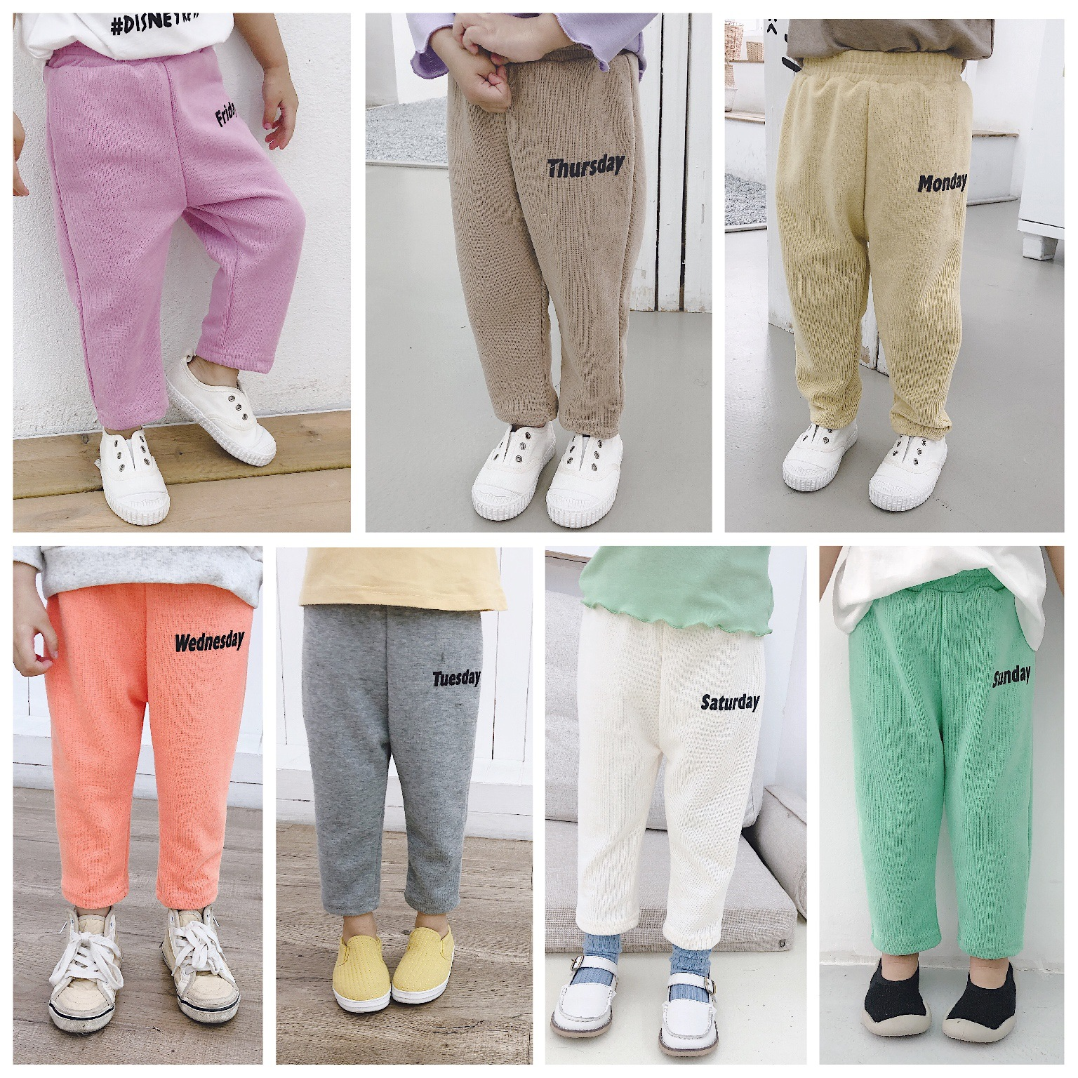 3188 2020 Summer New Children's Multi-color Sunday Pants Knitted Pants Candy Baby Kid Girl Boy Fruit Printed Harem Pants
