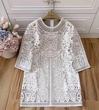 Hollow dress Embroidery Elegant