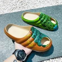 New Arrivals Men's Inspired YZY Slides Slip On Breathable Water Beach Sandla Lightweight Summer Slippers For Men Plus Size 39-46