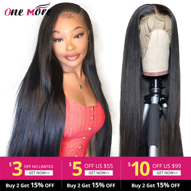 $ US $43.95 13x6 Straight Lace Front Wig With Baby Hair Straight Human Hair Wigs 360 Lace Frontal Wig Brazilian Lace Front Human Hair Wigs