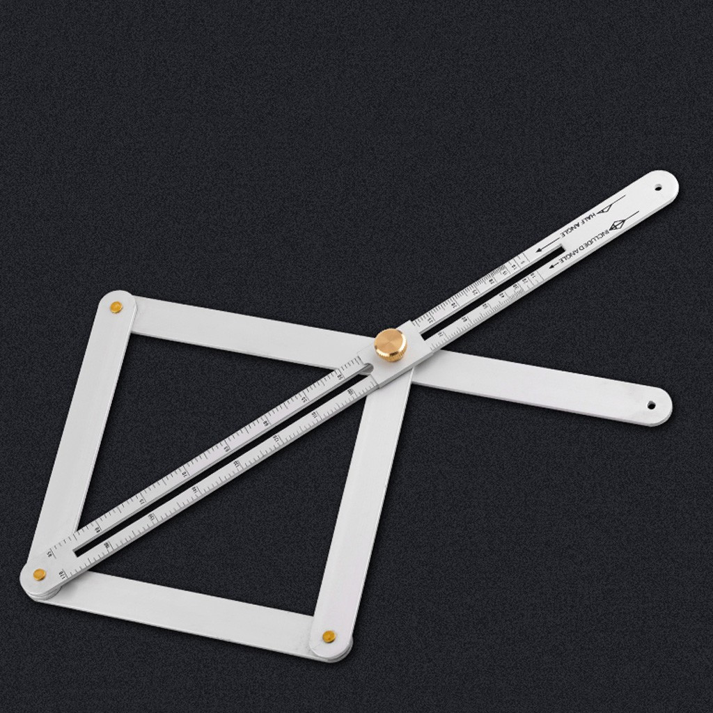 Stainless Steel Corner Angle Finder Ceiling Artifact Tool Square Protractor US.