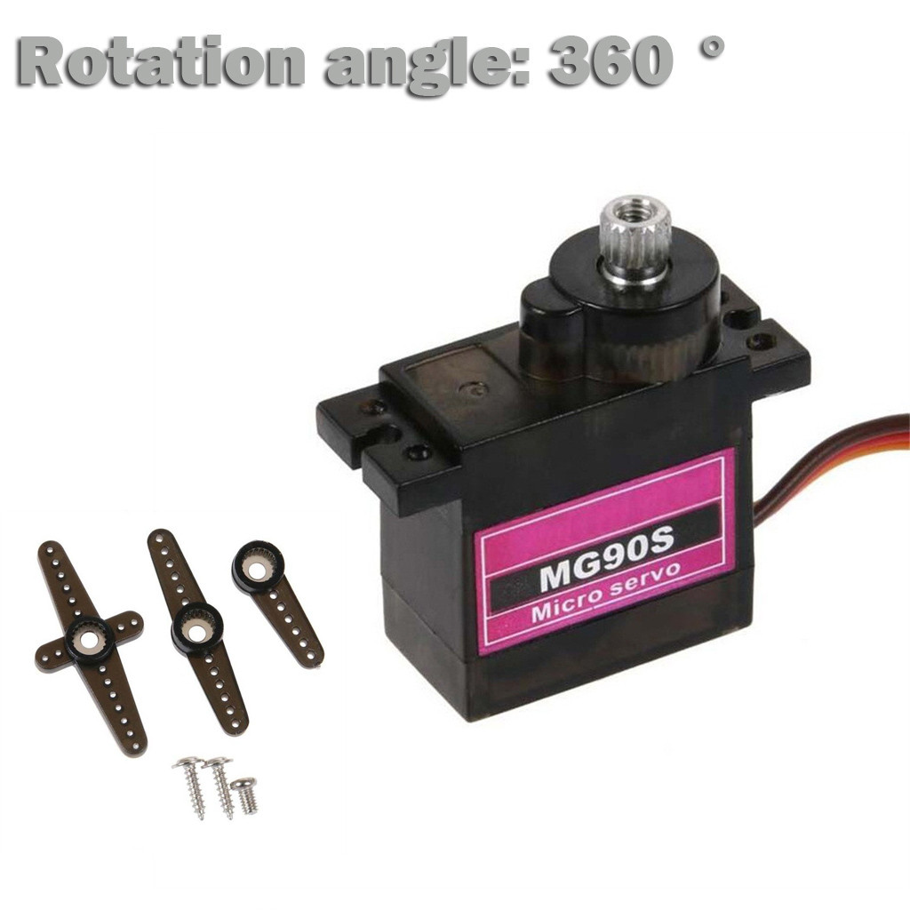 1PC MG90S Micro Metal Gear 9g Servo For RC Plane Helicopter Boat Car 360 Degree L1205