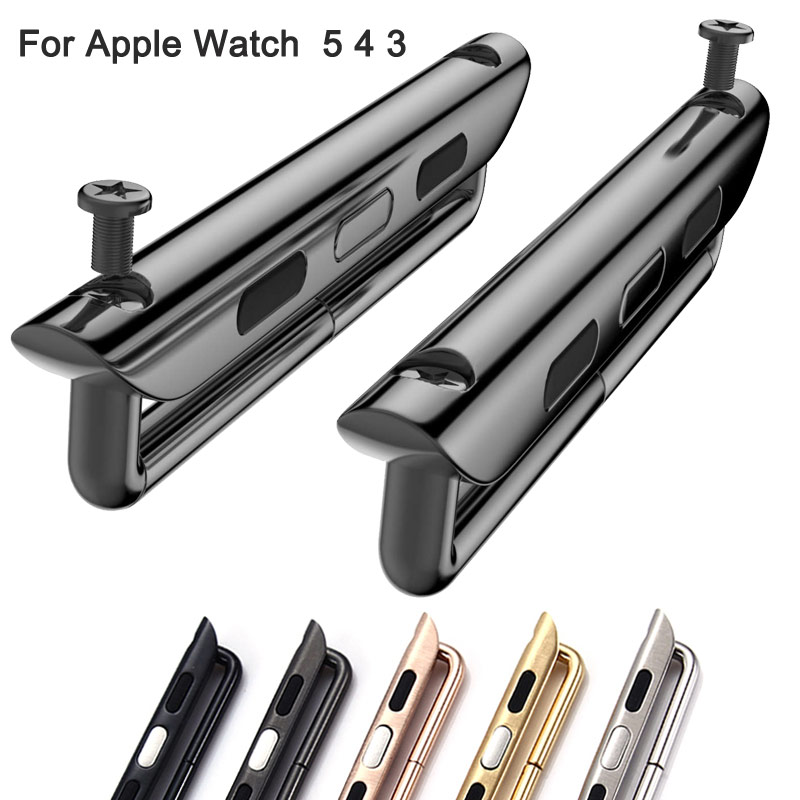 Adapter Connector For Apple Watch Series 5 4 3 2 Band 44mm 40mm Iwatch Band 42mm 38mm Accessories Free Gift Tool Wholesale