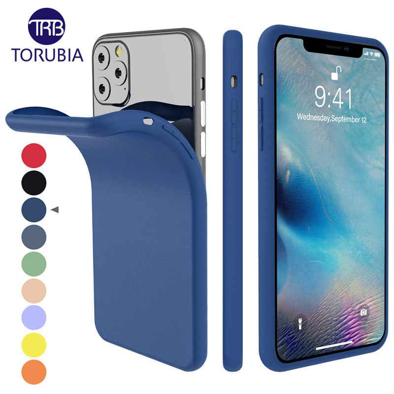 For iPhone 11 11 Pro Max 2019 Case Silicone Original Candy Color Built,in  Velvet Slim Matte Soft TPU Cover For iPhone 11 XI Case
