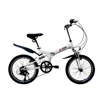 WolFAce 20 Inch 6 Speed Bike Foldable And Portable Bicycle Adult Bicycle Light Travel Mountain Bike 2021 New 1
