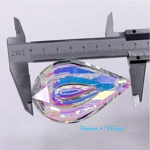Image 5 - Atrapasueños de cristal colorido, colgante de níspero, Prisma para lámpara, piezas, adornos colgantes, decoración del banquete de boda, figurita