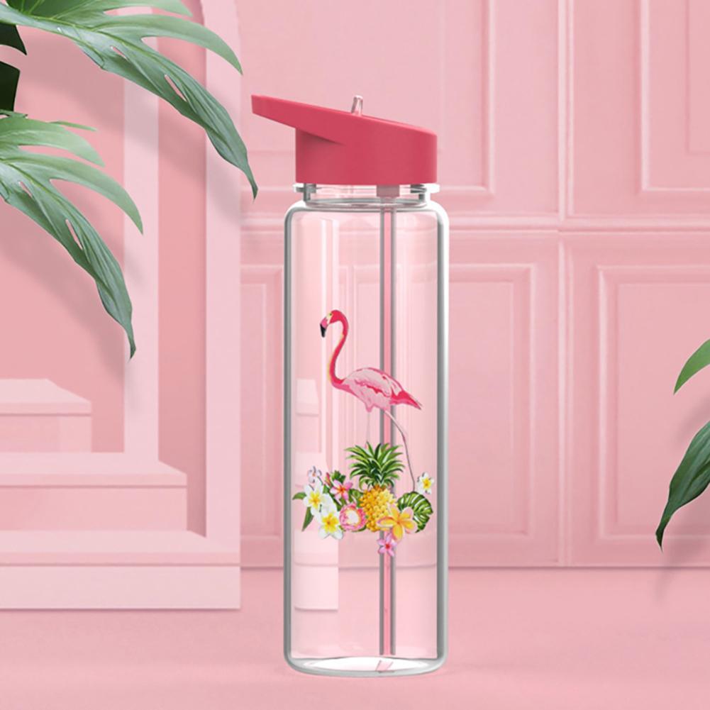 720ml Outdoor Sports Cartoon Flamingo Drinking Straw Water Juice Bottle Cup Expiosion Sport Water Bottles Expiosion hydro flask|Water Bottles| |  - AliExpress