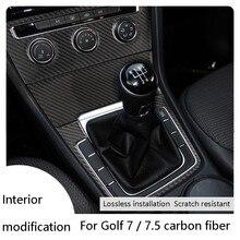 Автомобильный Стайлинг декоративные наклейки из углеродного волокна для Volkswagen VW Golf 7 GTI R GTE GTD MK7 2013-2017 LHD аксессуары