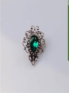 fashion European crystal brooch with chain pattern rhinestone western accessories