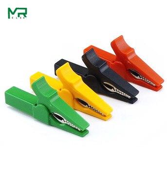 цена на 2PCS Insulated Crocodile clip opening 10 mm  HV Alligator Clip For Banana Plug 4mm Multimeter 55mm power test clamp