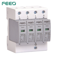 FEEO SPD AC 4P 420V הגנת מתח גל ברקים הגנה מעל מתח הגנת CE תעודה
