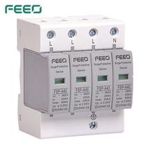 Feeo Spd Ac 4P 420V Overspanning Bescherming Bliksembeveiliging Overspanningsbeveiliging Ce Certificaat