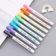8Pcs/Set Double Liner Outline Pen Writing Drawing Pens Stationery PAK55