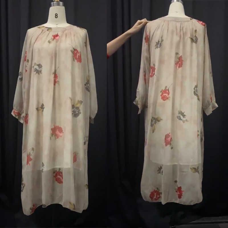 Богемное женское кружевное длинное платье макси, Осеннее элегантное платье с длинным рукавом, сарафан, кафтан, вечерние, Пляжное, бохо платье, цветочный принт, Vestido, мешковатое