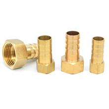цена на Brass Hose Fitting 4mm 6mm 8mm 10mm 19mm Barb Tail 1/8 1/4 1/2 3/8 BSP Female Thread Copper Connector Joint Coupler Adapter