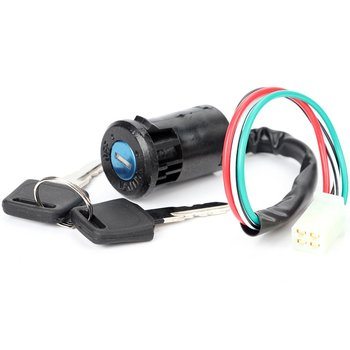Off-road motorcycle modified universal small high game ATV start ignition switch electric door lock key switch 87 17009a5 boat motor ignition key switch for mercury outboard motors 3 position off run start
