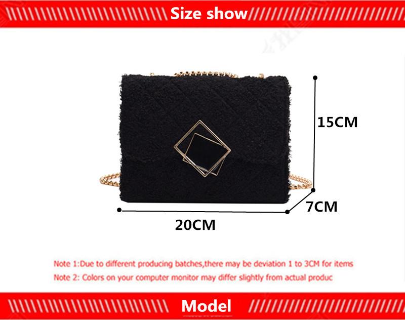 Женская шерстяная квадратная сумка книжка портативные сумки