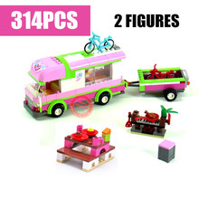 New 10168 Friends Adventure Camper Fit Friends City Building Blocks Bricks Bricks Figures Kid Gift Toys Children Birthday Xmas new ninja movie temple ultimate weapon fit legoings ninjagoings city figures temple building blocks bricks 70617 gift kid toys