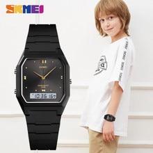 Skmei子供電子クォーツスポーツ腕時計ストップウォッチ3時間カレンダー5Bar防水時計子供腕時計女の子