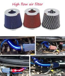Универсальные автомобильные воздушные фильтры с высоким потоком, фильтр холодного забора, Спортивная мощность, алюминиевый нетканый матер...