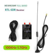100Khz-1.7Ghz Volledige Band U/V Hf RTL-SDR Usb Tuner Radio Ontvanger Usb Dongle Analoog Van digitale Ontvangst Door Diy Test Signalen