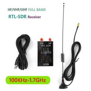 100KHz-1.7GHz Full Band U/V HF RTL-SDR USB Tuner Radio Receiver USB Dongle Analog of Digital Receiving by DIY Test Signals
