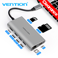 Vention USB C к HDMI USB 3,0 концентратор type C к RJ45 адаптер Thunderbolt 3 для MacBook samsung Dex huawei P30 Pro usb-c адаптер
