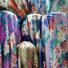 Hawaii Style Satin Fabric Craft Soft Glossy DIY Lining Material Tissue Polyester Charmeuse
