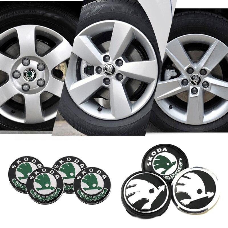 Колпачки на колесо автомобиля 56/60/65 мм, центральные колпачки для Skoda Logo RS Superb Kamiq Octavia 2 A7 Tour Fabia Rapid Kodiaq Yeti Karoq, металлическое украшение