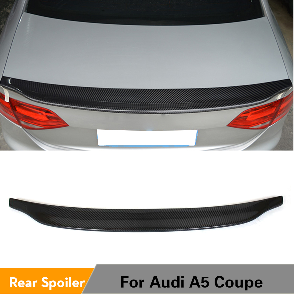 Carbon Fiber Bak Spoiler Trunk Boot Lip Wing for Audi A5 Coupe 2Door 2008 - 2015 Quattro Standard