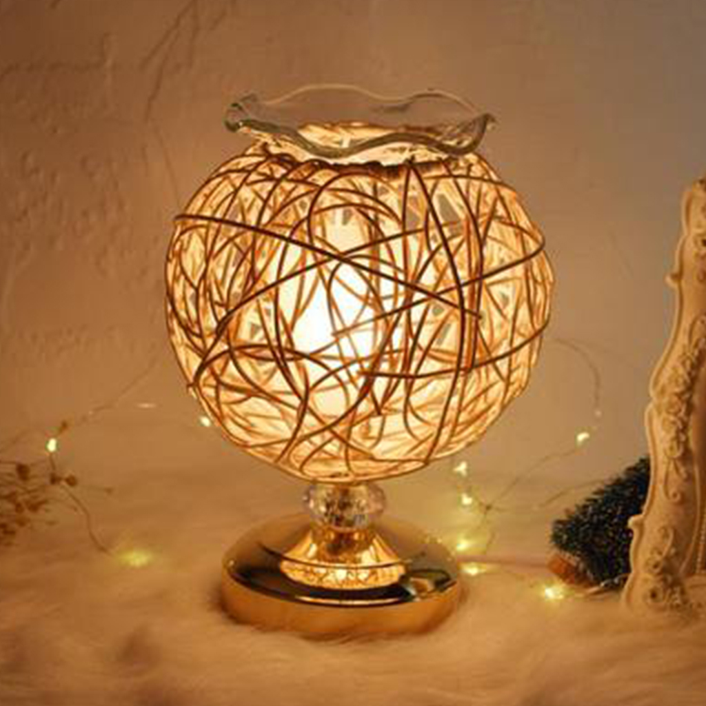 Dimmable Aromatherapy Nest Table Lamp Electric Fragrance Essential Oil Lamp Air Aroma Diffuser Night Light Home Christmas Decor 3