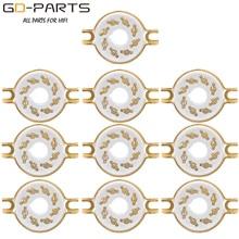 10 Pcs Chassis Mount 8 Pin K8A Octaal Keramische Buisvoeten Voor KT88 KT66 6SN7 5AR4 GZ34 5881 6V6 5U4G 6550 6J7 6SJ7