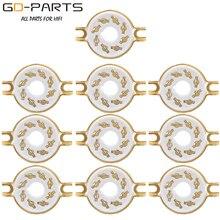 10PCS 8 פינים K8A אוקטלי קרמיקה ארובות צינור KT88 KT66 6SN7 5AR4 GZ34 5881 6V6 5U4G 6550 6J7 6SJ7