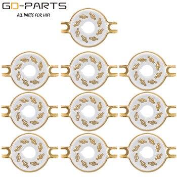 10PCS Chassis Mount 8 Pin K8A Octal Ceramic Tube Sockets for KT88 KT66 6SN7 5AR4 GZ34 5881 6V6 5U4G 6550 6J7 6SJ7 8pin el34 gz34 kt88 6v6 6l6 5z3 6sn7 octal gold plated tube socket saver base