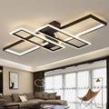 Современные светодиодные люстры, светильники для гостиной, спальни, кухни, домашнего декора с дистанционным управлением, черный блеск, пото...