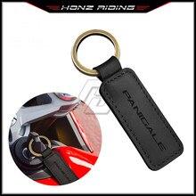Para ducati 899 959 1099 1199 1299 panigale v4 chave da motocicleta chaveiro do anel chave