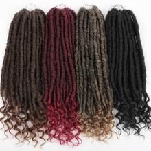 Xnaira 24 Strands Afro Bohemian Synthetic Goddess Locs Crochet Hair Bra
