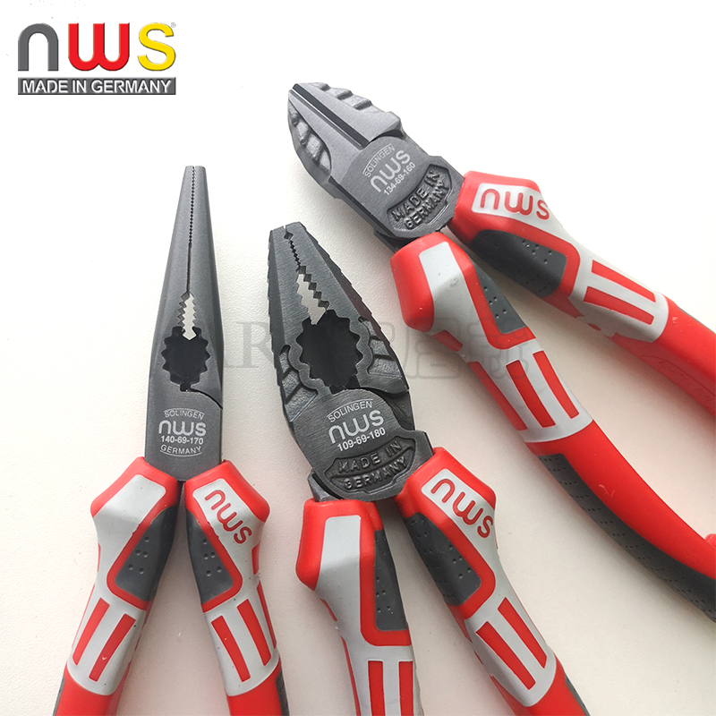 Germany NWS Wire Cutter Needle Nose Pliers Diagonal Pliers Diagonal Pliers Multi-purpose Pliers 109-69-180 Imports