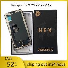 Écran OLED pour AMOLED iPhone X XS XSMAX XR affichage hexagone 3D écran tactile remplacement pour iPhone LCD assemblée véritable Ton