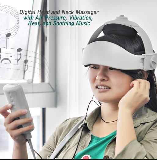 Tête électrique massage casque pression d'air massothérapie musique stimulation musculaire soins de santé