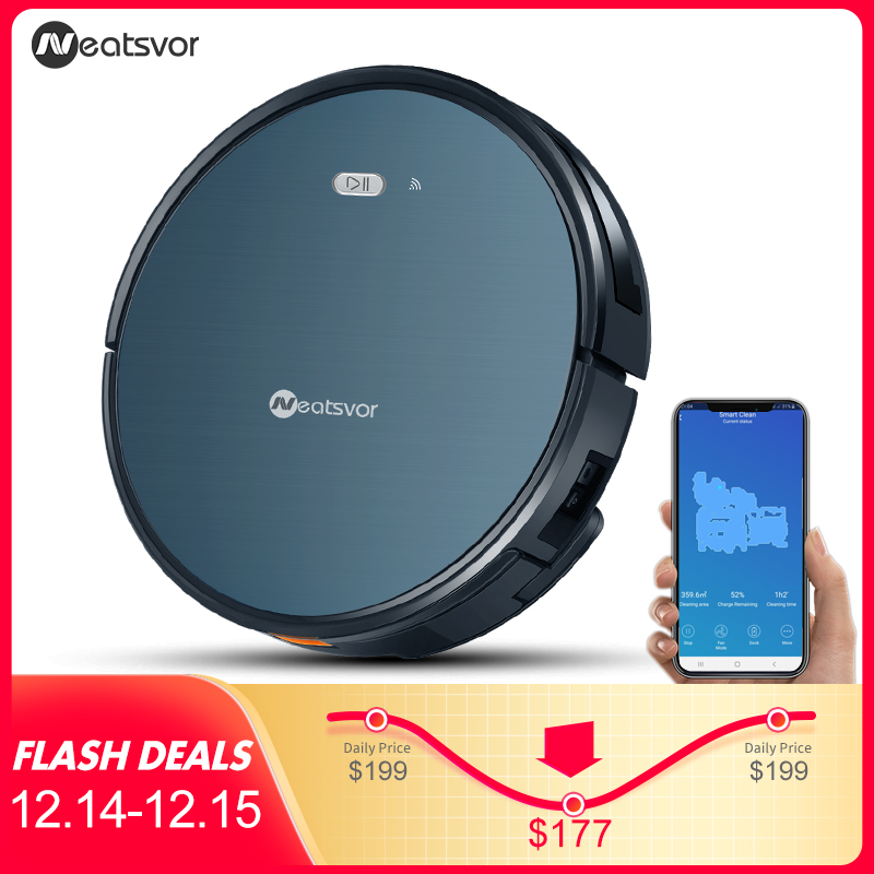 NEATSVOR X500 Robot Vacuum Cleaner 1800PA Poweful Suction 3in1 pet hair home dry wet mopping cleaning robot Auto Charge vacuum-in Vacuum Cleaners from Home Appliances on AliExpress