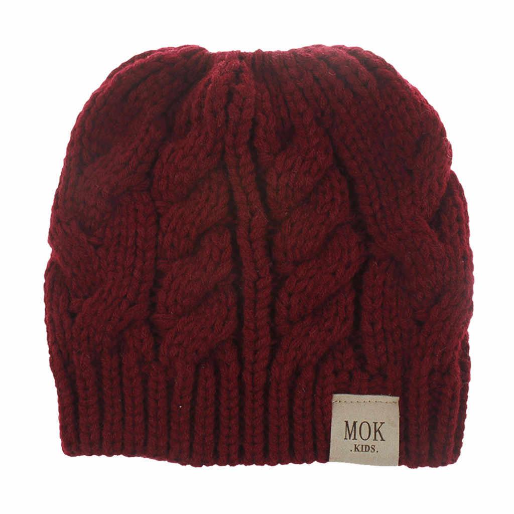 JAYCOSIN New Children Girls 따뜻한 겨울 캐주얼 니트 모자 헤밍 모자 스키 모자 두꺼운 따뜻한 니트 스웨터 모자