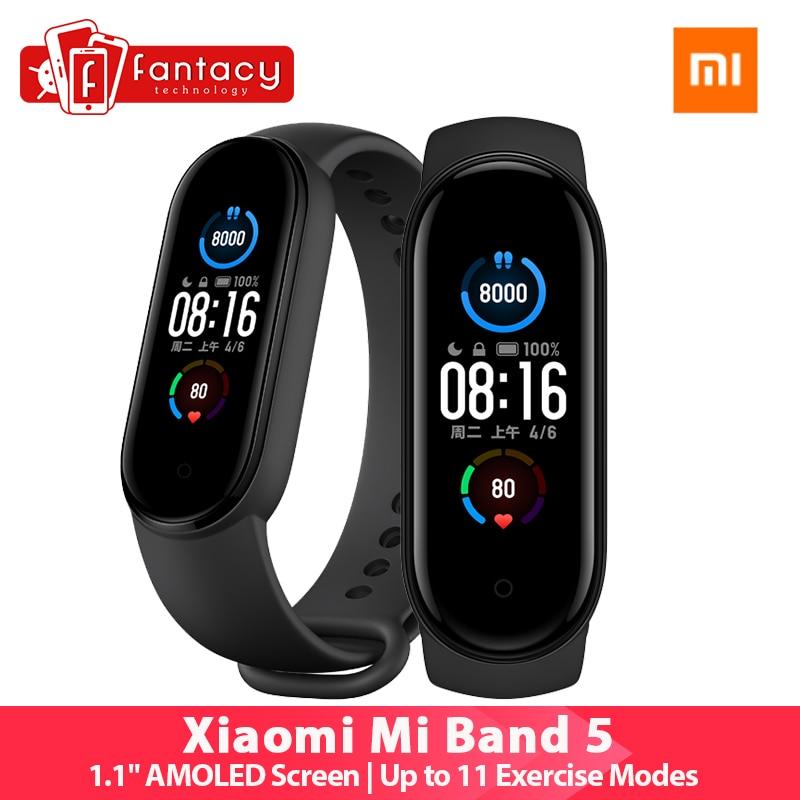 "Original Xiaomi Mi Band 5 Smartband Color 1.2"" Touch Screen Miband 5 Wristband Fitness Heart Rate Monitor Sport Waterproof|Smart Wristbands| - AliExpress"