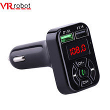 VR robot Bluetooth Car MP3 Player FM Transmitter Handsfree Car Kit Adapter 5V 3.1A USB Charger With TF/U Disk Audio Music Player(China)
