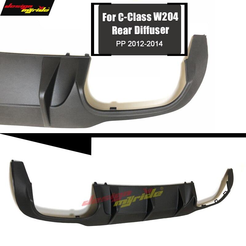 W204 diffuseur de lèvre de pare-chocs arrière c63 style PP plastique pour Mercedes Benz C180 C200 C250 C280 C300 C350 diffuseur de lèvre et pare-chocs C63 12-14