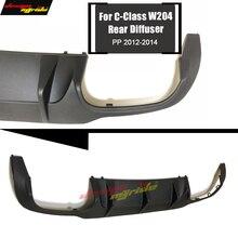 W204 rear bumper lip diffuser c63 style PP plastic for Mercedes Benz C180 C200 C250 C280 C300 C350 lip diffuser&C63 bumper 12-14