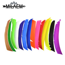 50 pcs 20-29 cm Archery Turkey Feather Left Wing Real 14 Colors Colorful Arrow Fletching Shooting Hunting